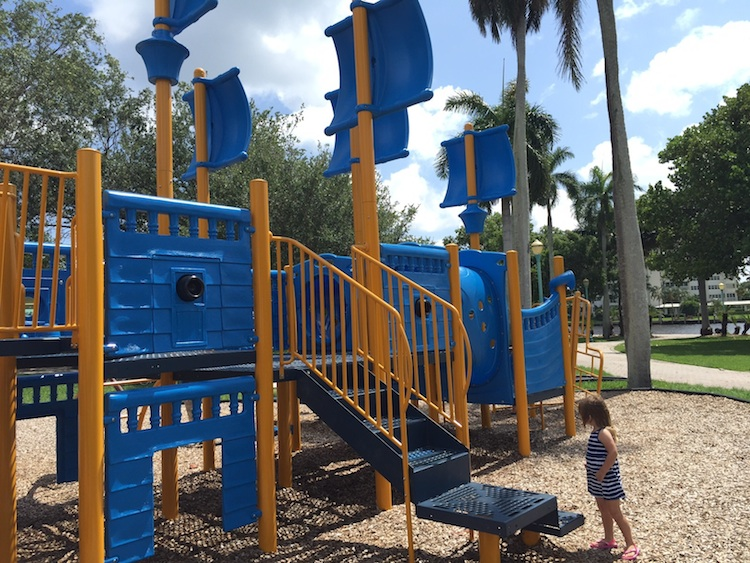 Delray Beach has a fun playground for toddlers.