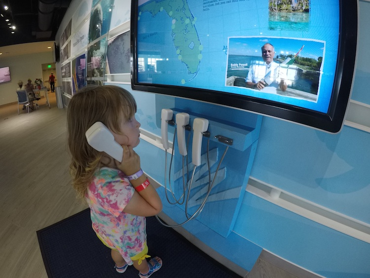 Manatee Lagoon offers interactive learning stations - perfect for toddlers!