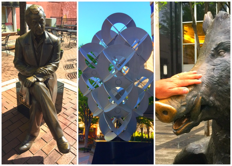 Things to do in Greenville SC - take a public art tour.