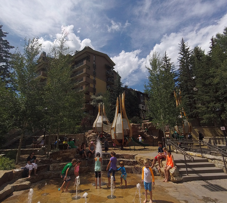 Kids playing at Sunbird Park in Vail