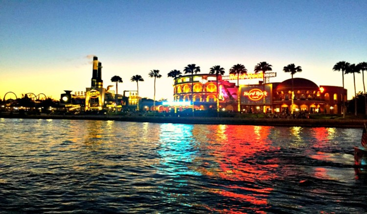 The Universal CityWalk is spectacular at night and must be included on your one-day itinerary to visiting Orlando, Florida.