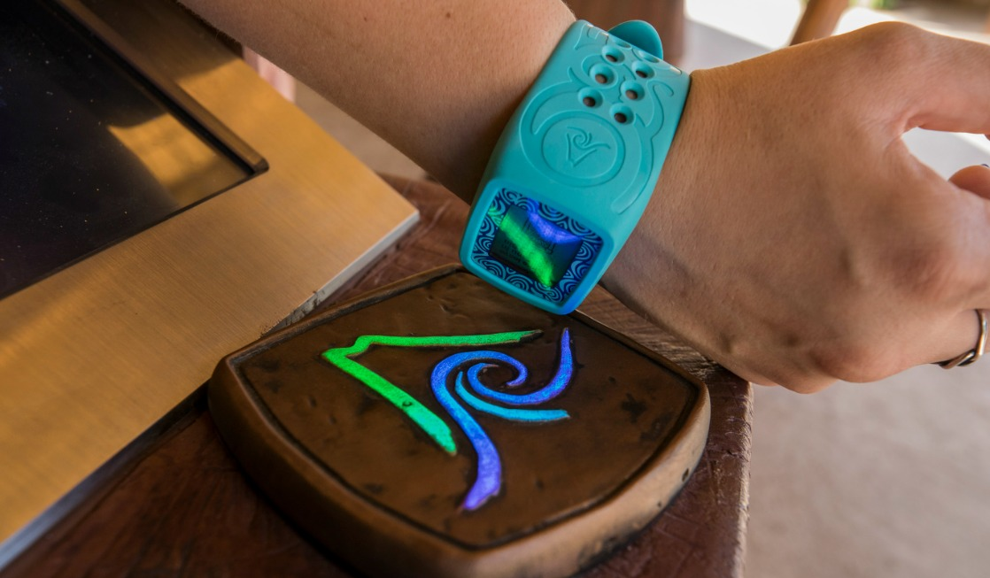 Use the Tapu Tapu wristband to enter rides and more at Volcano Bay.