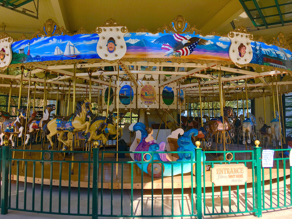 Enjoy a carousel ride when in Santa Barbara without a car