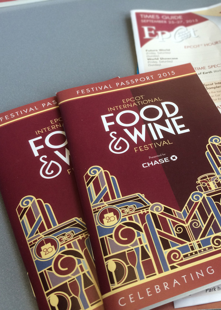A passport from Epcot's International Food and Wine Festival, where guests collect stamps by visiting more than 35 food booths from around the world