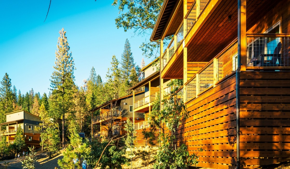 Escape the crowds at Yosemite with a stay in the Hillside villas at Rush Creek Lodge.