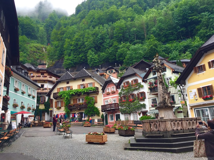 The village of Hallstatt, Austria is a good Salzburg day trip