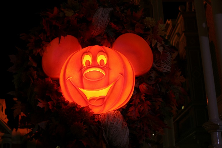 The decor at Mickey's Not So Scary Halloween Party is bright and colorful.