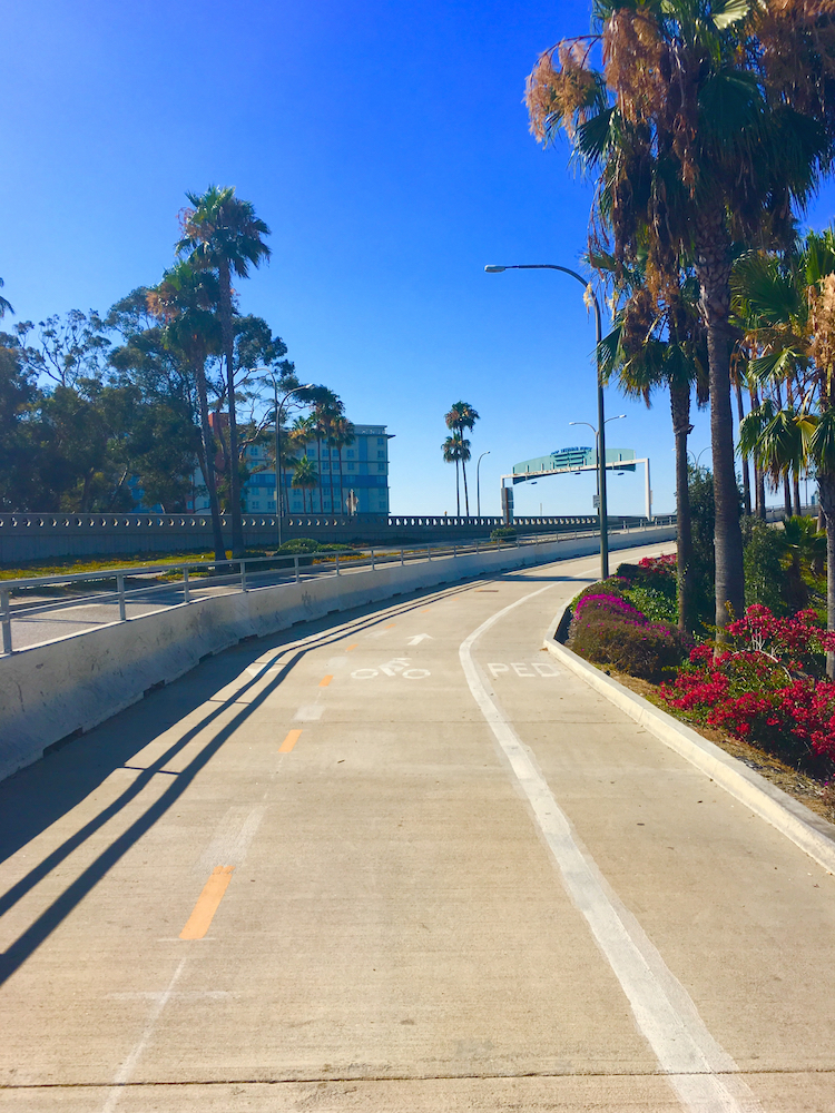 Take a bike ride during your 3 day itinerary for Los Angeles.