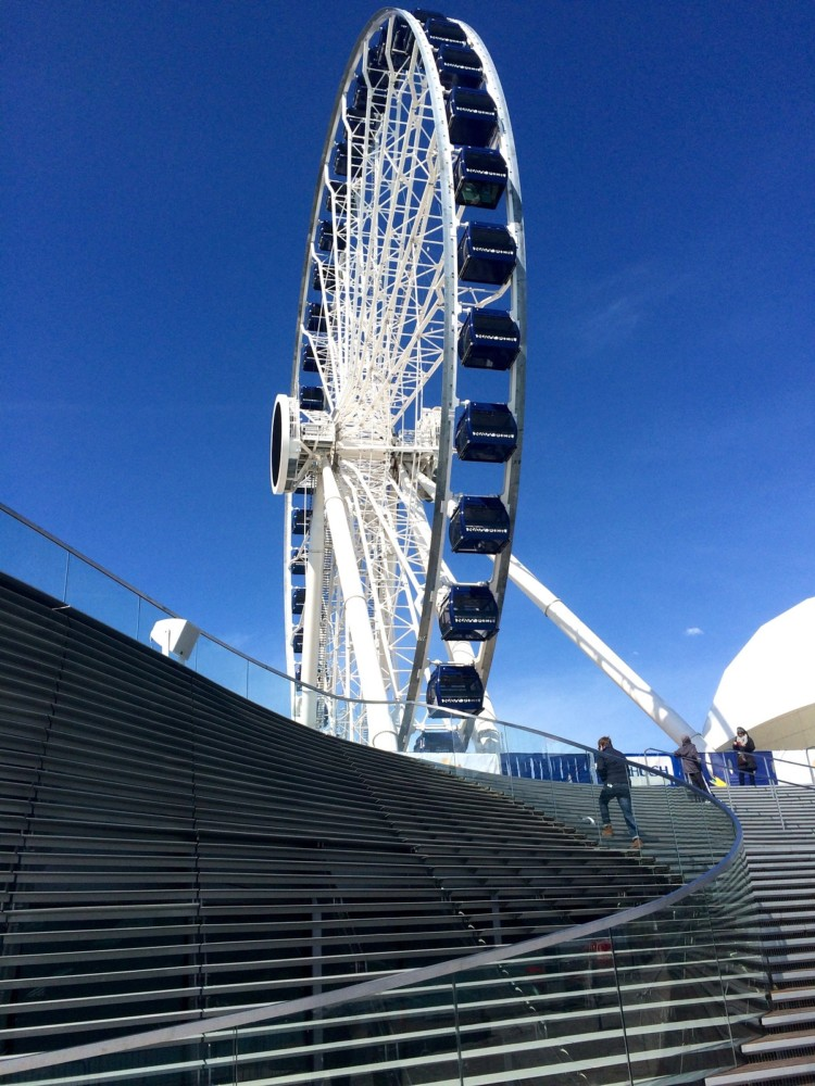 A bigger, new Centennial Wheel is at Navy Pier in Chicago.