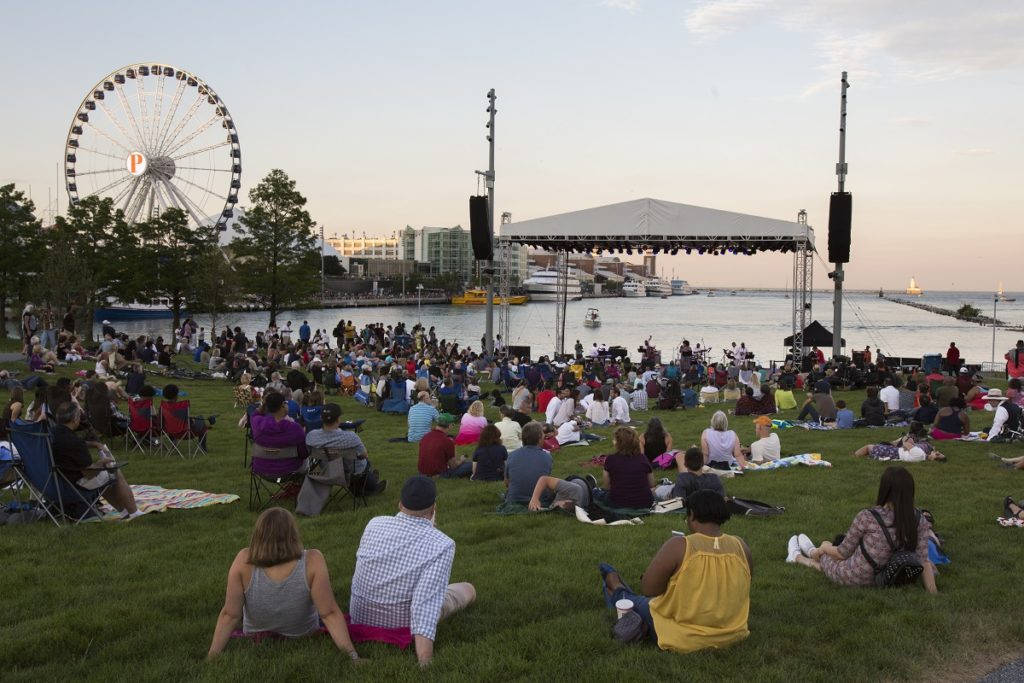 Polk Bros Park at Navy Pier will host family-friendly performances.