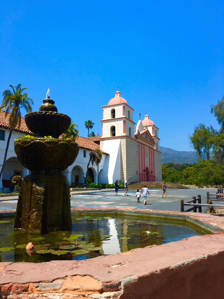 Visit Old Mission Santa Barbara when visiting Santa Barbara without a car.