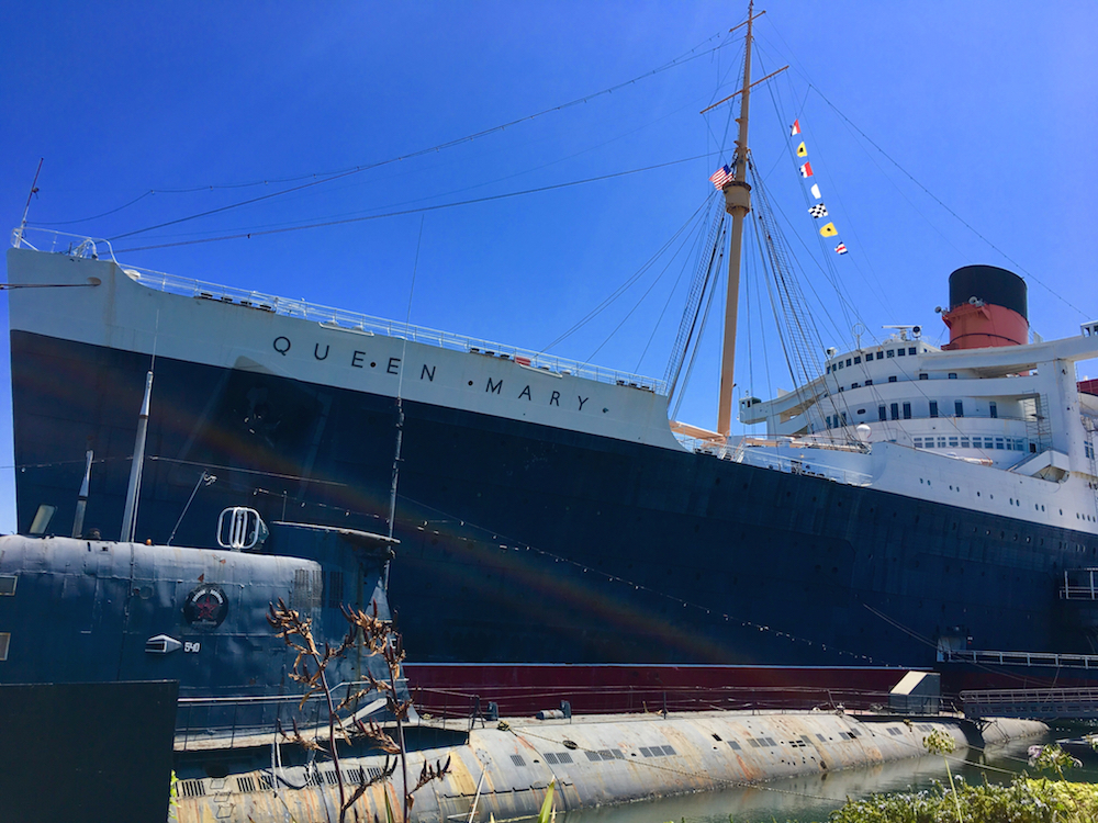 Exterior of the Queen Mary in Long Beach, California - TravelingMom