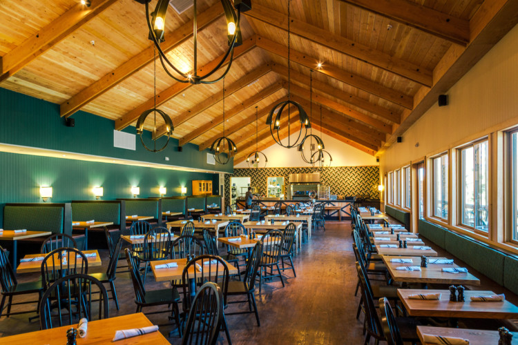 Dine at Rush Creek Lodge Restaurant, just outside Yosemite National Park.