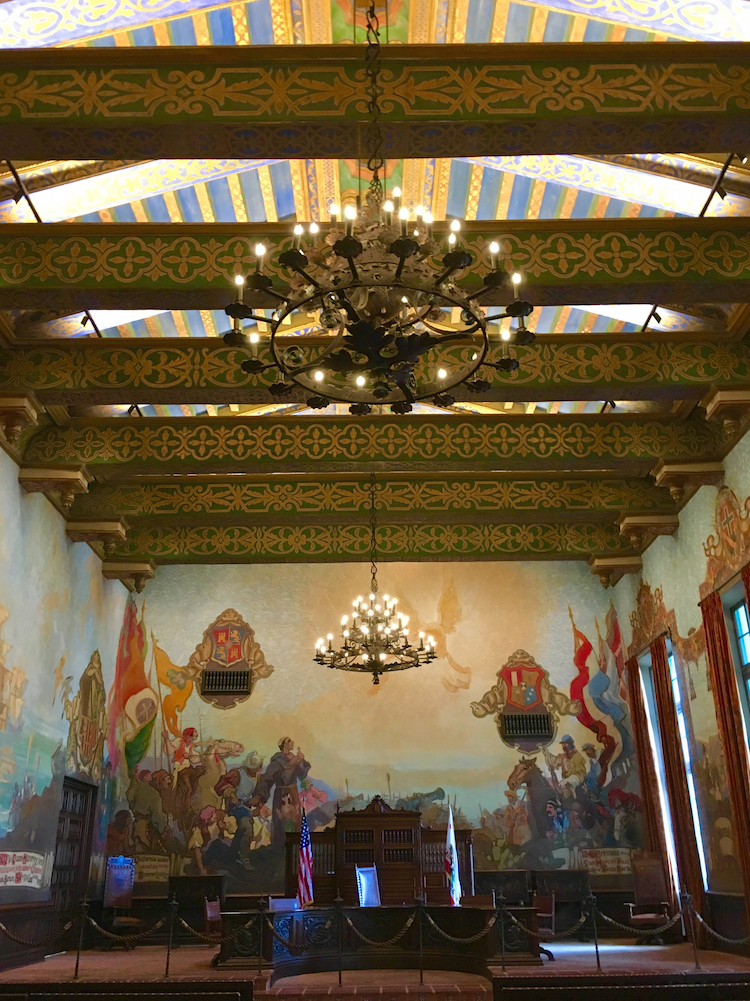 Visit the Santa Barbara County Courthouse when visiting Santa Barbara without a car.