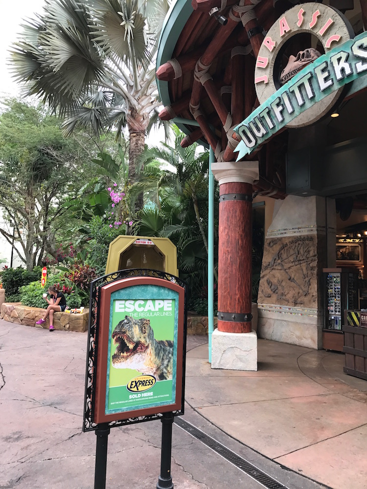 Buy your Universal Express Pass in the parks including ride gift shops