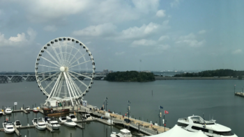 The views from National Harbor include the Capitol Wheel. Thinking about visiting National Harbor with kids? Trust a local's guide: here's what to see and do when taking the family to National Harbor, Maryland.