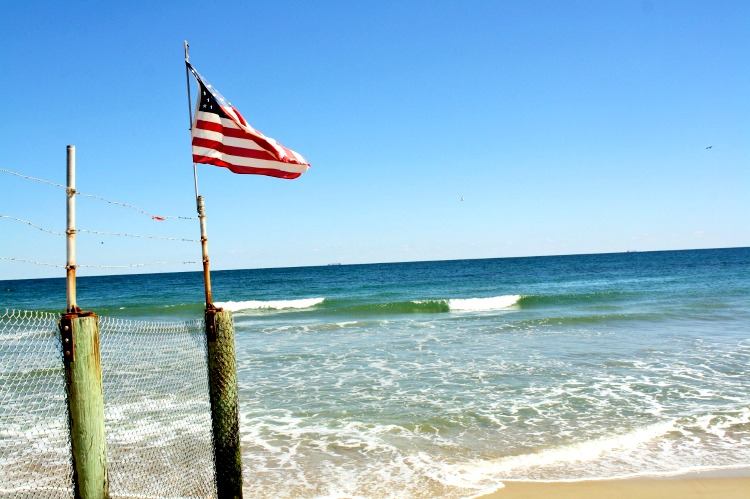 The flag flies high during Fall Fun in Virginia Beach!