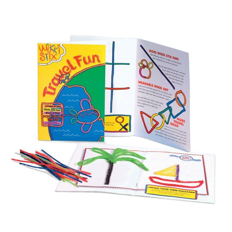 Wikki Stix are great thing to pack in a preschooler's carry-on