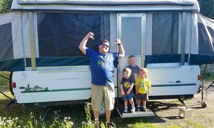 Camping with kids at Yellowstone is a very popular way to check out the National park.