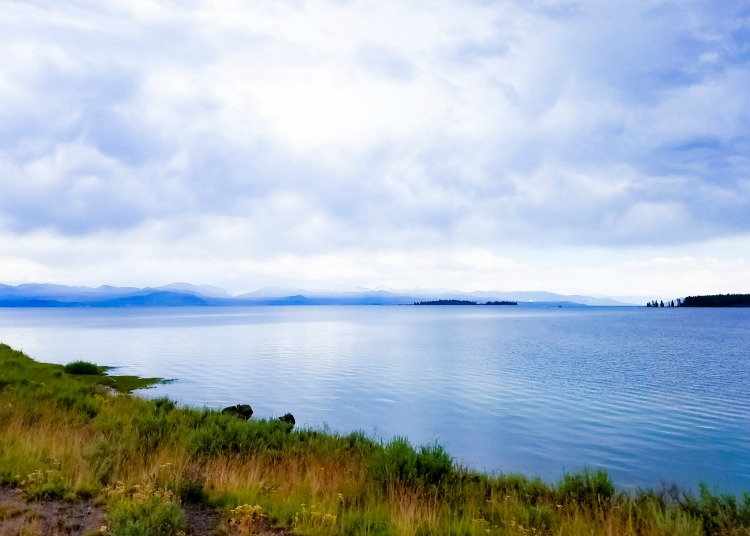 Make sure to stop and check out Yellowstone Lake when visiting Yellowstone with kids.