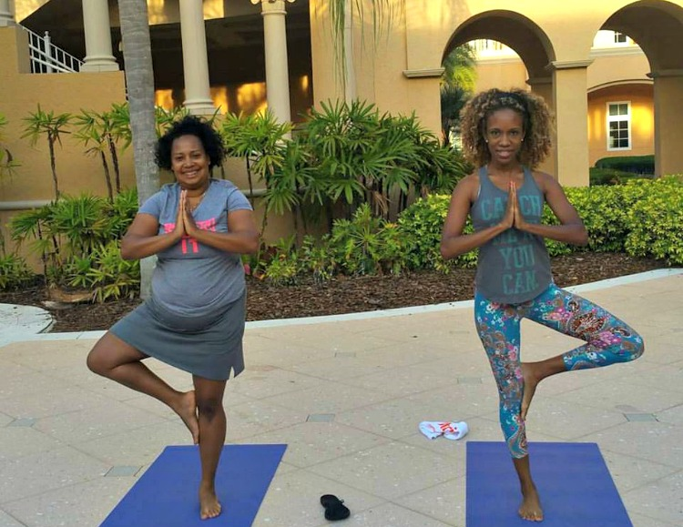 Yoga is a perfect way to start the day on a girlfriend getaway!