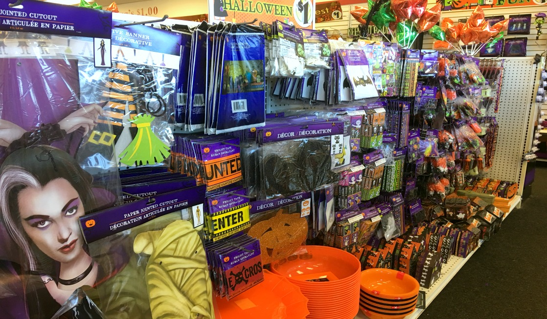 Head to the dollar store for easy, inexpensive Halloween decorations for your Disney resort doors and windows!
