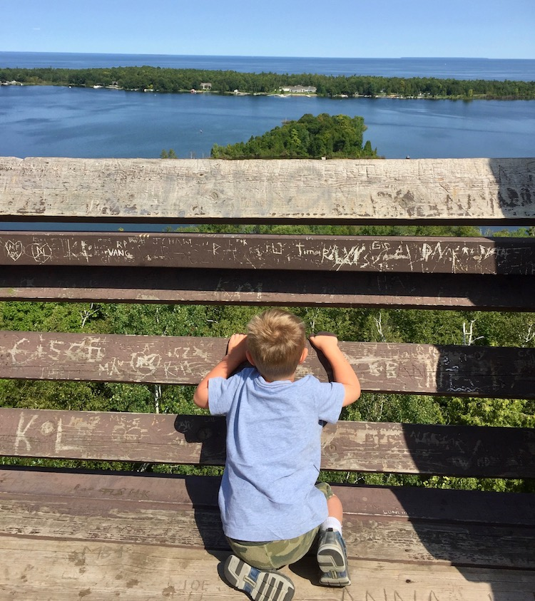 Door County outdoors sports include gazing out to big vistas.
