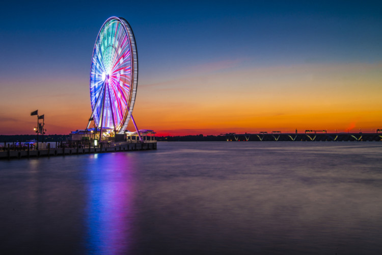 The Capitol Wheel is great when visiting Maryland's National Harbor with kids.