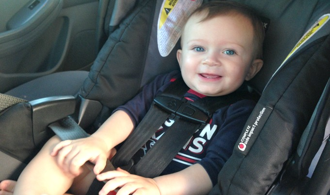 Keep your baby happy and safe with these car seat safety tips! Photo Credit: Road Warrior TMOM Nasreen Stump