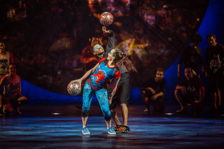 Creative circus jugglers make Cirque du Soleil a family-friendly show.