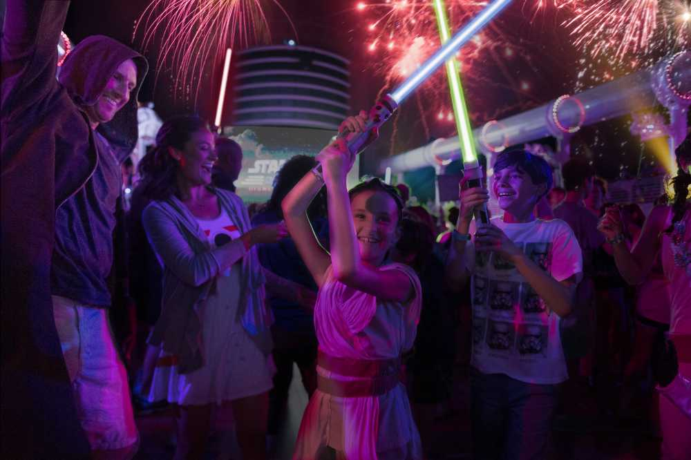 Disney deck parties are a main attraction on family sailing adventures