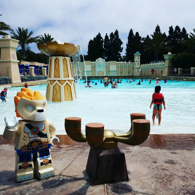 Life vests are complimentary at many of the water parks, including the waterpark at LEGOLAND California. Photo by Day Trips TravelingMom, Julie Bigboy.