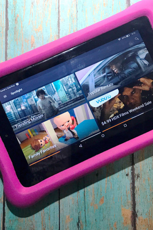 Kids of all ages would love to have an Amazon Fire Tablet as a travel gift.