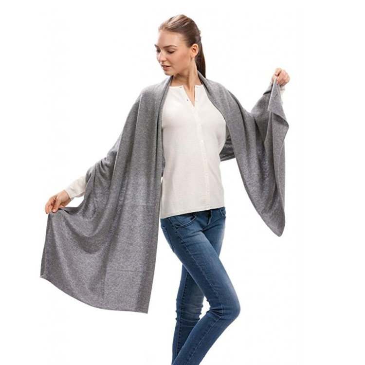 Cashmere Scarf Wrap is double duty for stylish comfort.