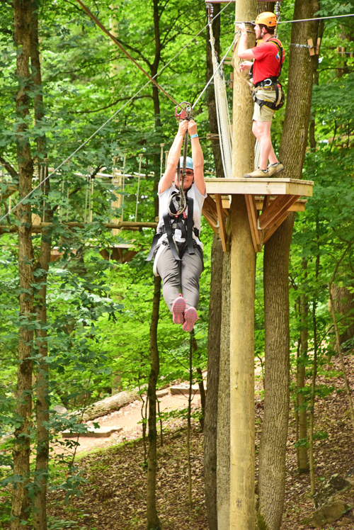 Fun for any ages at Ruby Falls ZIPstream Aerial Adventure in Chattanooga, Tennessee