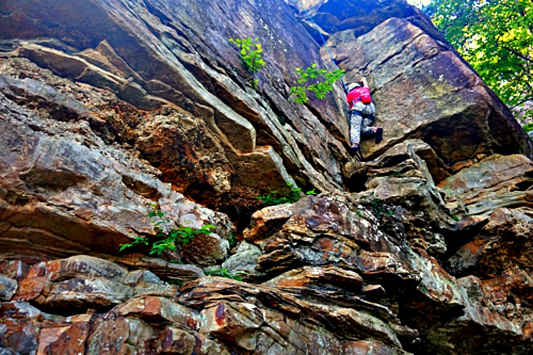 Chattanooga is a very popular destination for rock climbing.