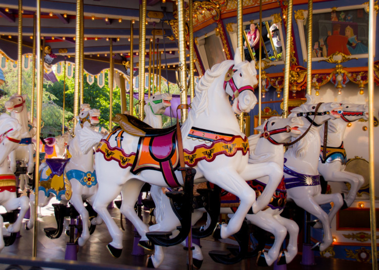 Tips for Disneyland with toddlers- the carousel is a great first ride choice