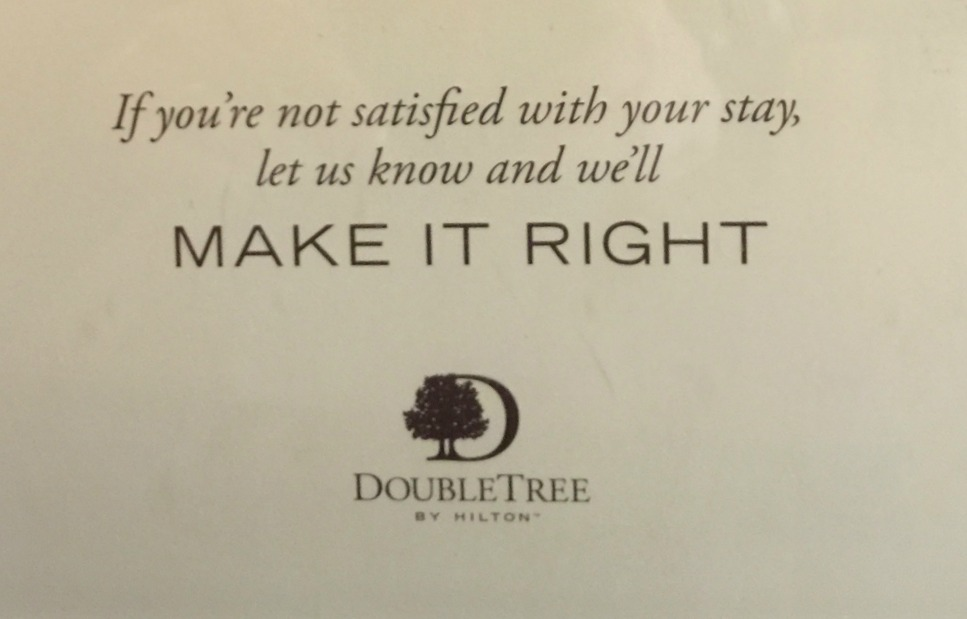 DoubleTree Suites downtown Detroit promise: If something isn't right, they'll fix it.