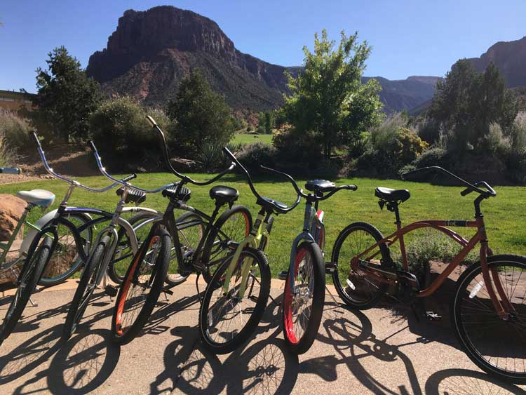 Whether you are at Gateway Canyons for romance or a family getaway, the large selection of complimentary cruiser bikes is a nice touch.