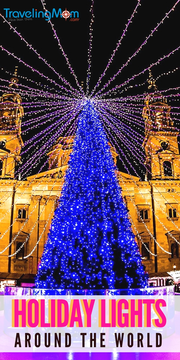 Where to see the best holiday lights around the world and travel tips for making sure it's fun for everyone in the family! #holidaylights #holidaylightstips
