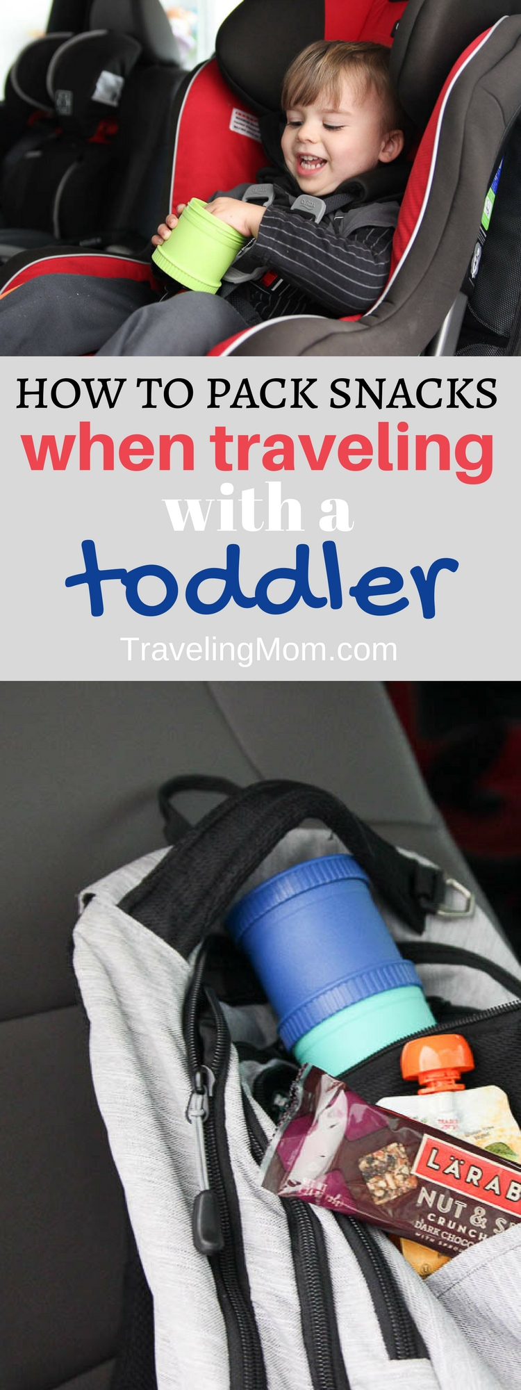 Travel with toddler means you'll need snacks! Check out these great snack hacks for traveling with toddlers. They may save you a hangry meltdown.