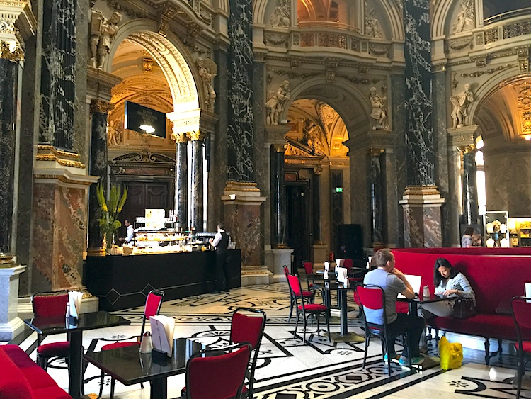 Pastries at the Kunsthistorisches Museum cafe is a Vienna date idea