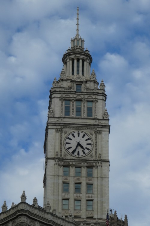 The Wrigley building is among the sites during the Chicago Architecture Foundation river cruise.