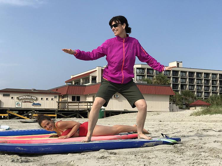 Ever taken a surfing lesson? It's an ideal part of a wellness retreat in Myrtle Beach, SC