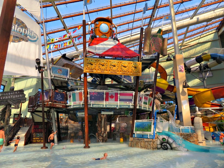Aquatopia the indoor water park at Camelback Lodge a special needs friendly resort in the Poconos has options for special needs families such as a private cabanas and lift chairs.