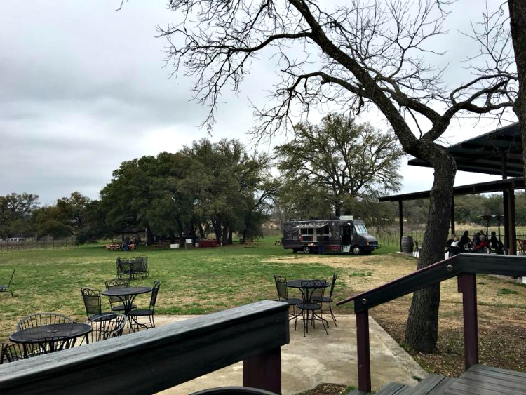 The patio and ground of William Chris make this a must-stop place on your tour of Texas Hill Country Wineries