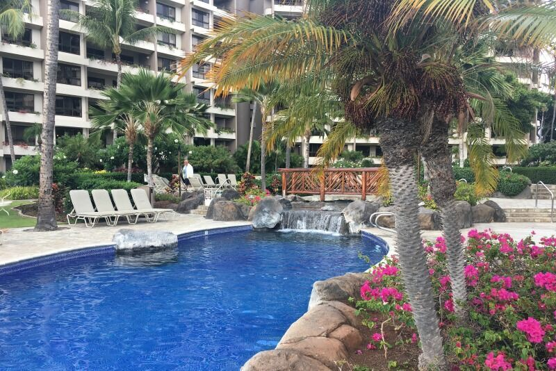 Family friendly hotels in Maui - the pool at the Ka'anapali Ali'i.