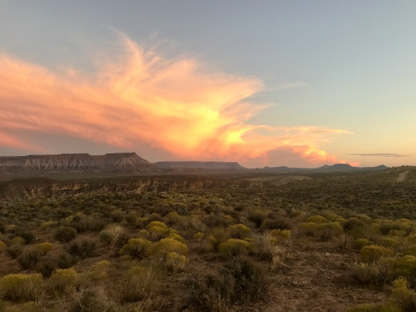 The sunsets were one of the things we fell in love with on our first visit to zion national park