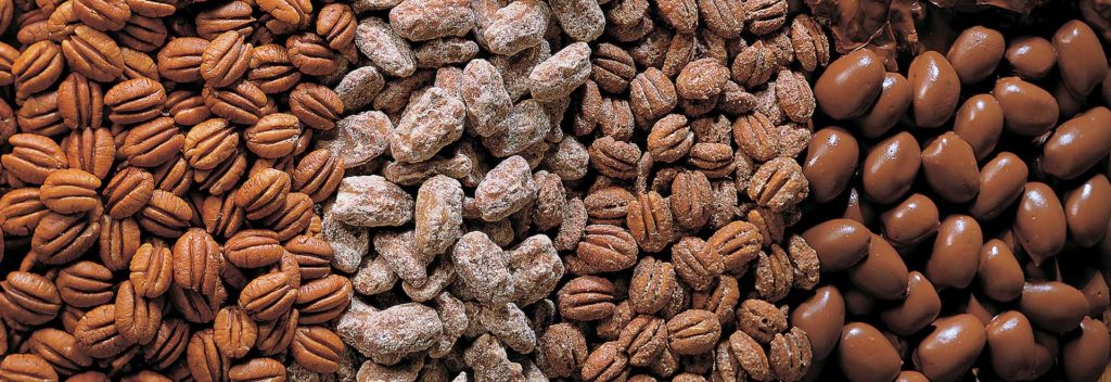 One of the best travel gifts for men is a container of gigantic, delicious pecans.