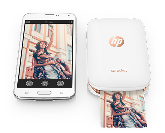 The HP Sprocket is one of the best travel gifts for men because it lets them print photos on the go.